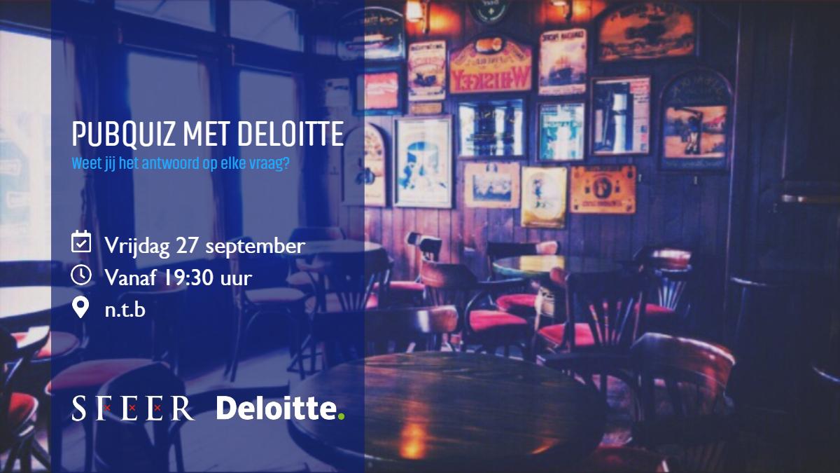 Pubquiz met Deloitte