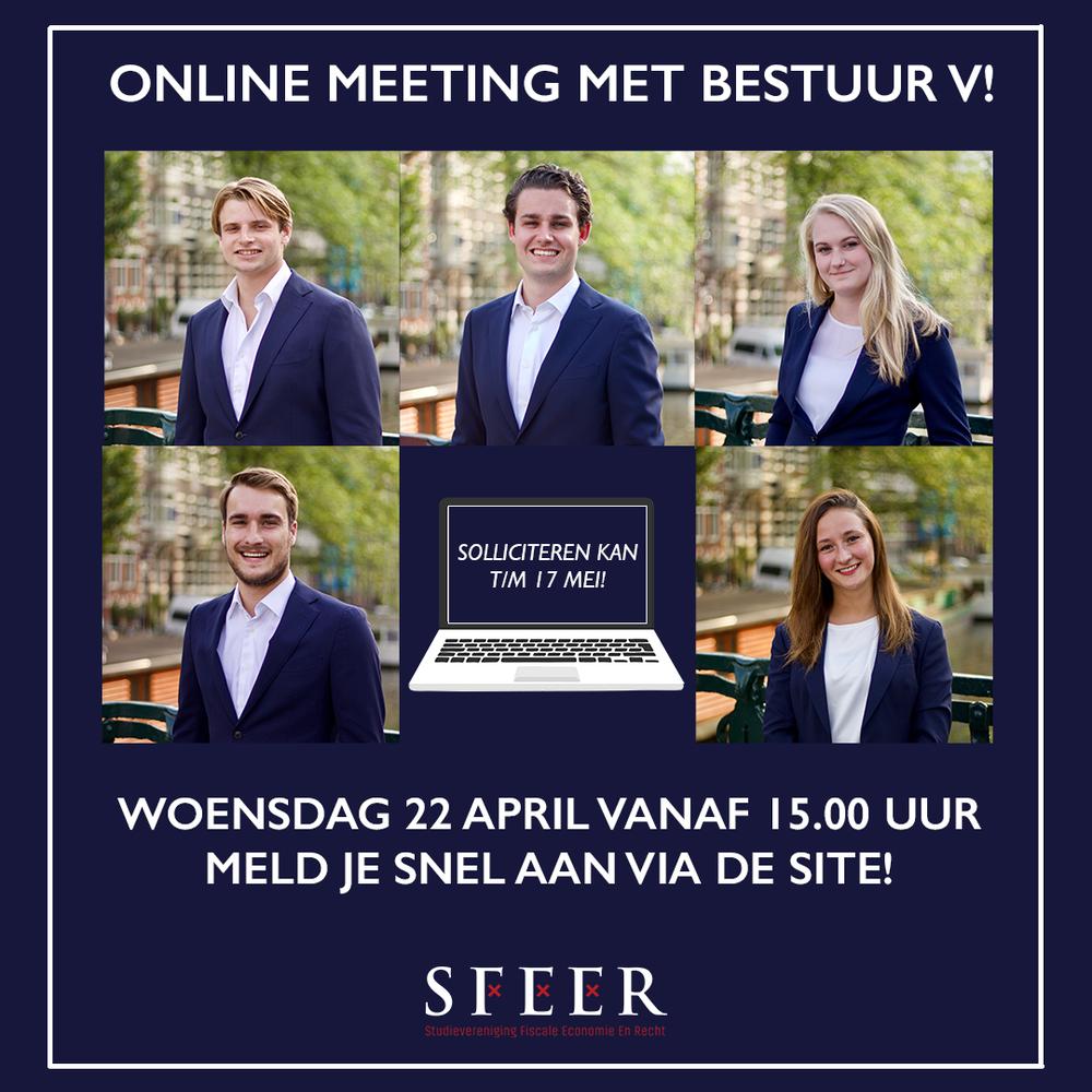 Online meeting met Bestuur V!