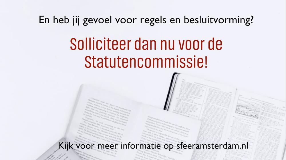 Solliciteer nu voor de Statutencommissie!